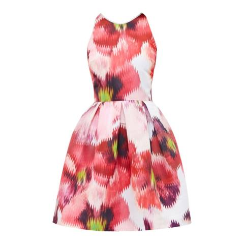 Ted Baker Grey Cesilia Expressive Pansy Skater Dress