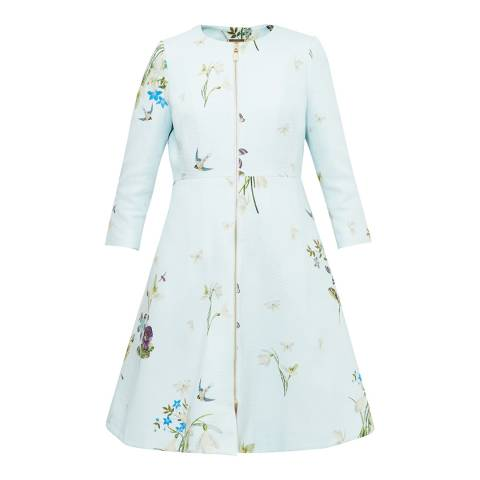 Ted Baker Baby Blue Racheel Spring Meadow Print Coat