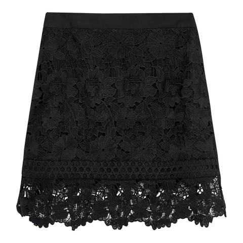 Ted Baker Black Beay Lace Mini Skirt