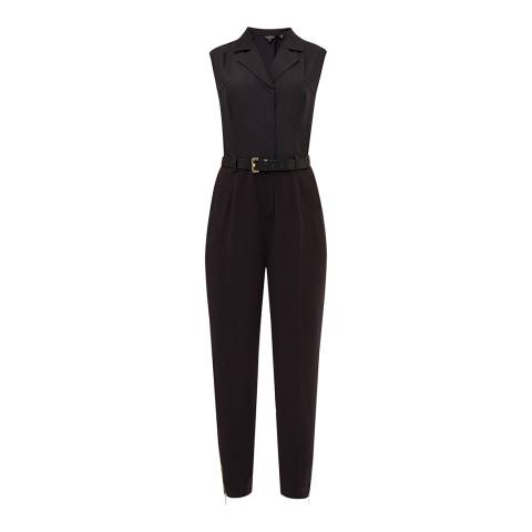 Ted Baker Black Natoly Casual Collared Jumpsuit