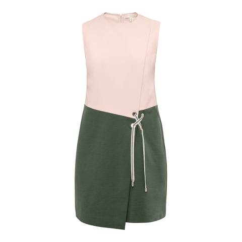 Ted Baker Nude Pink Mivis Crossover Front Tunic Dress