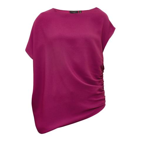 Ted Baker Purple Britla Draped Asymmetric Top