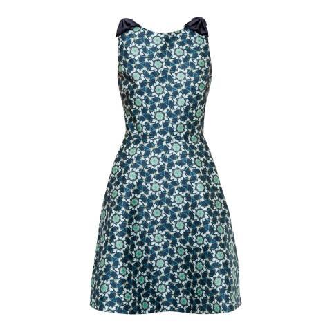 Ted Baker Blue Saint Swallow Print Dress