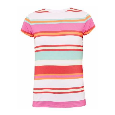Ted Baker Baby Pink Cheral Pier Stripe Fitted T-Shirt
