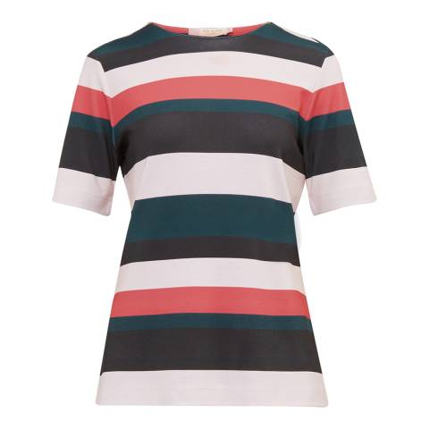 Ted Baker Coral Ketzia Stripe Print Top