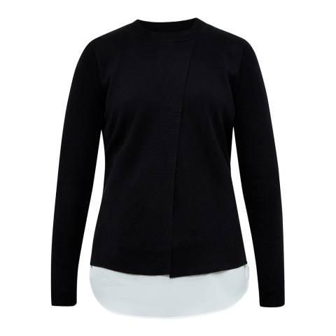 Ted Baker Black Denay Mockable Shirt Jumper