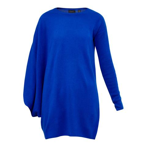 Ted Baker Blue Fondy Asymmetric Zip Detail Jumper