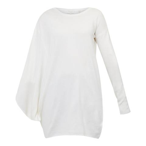 Ted Baker Ecru Fondy Asymmetric Zip Detail Jumper