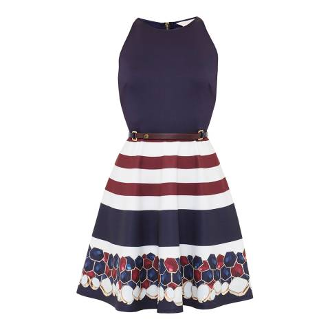 Ted Baker Annalie Rowing Stripe A-Line Skater Dress
