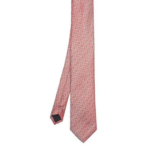 Ted Baker Red Zig Zag Silk Blend Tie