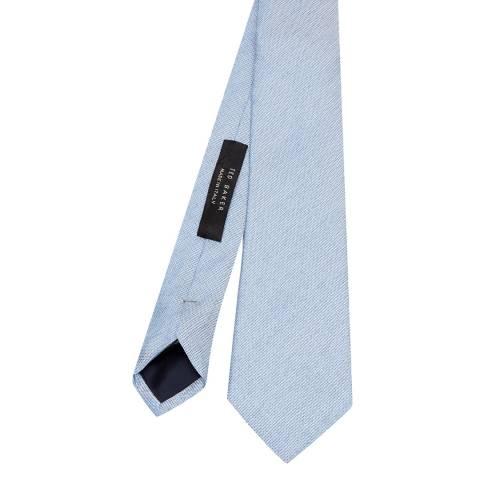 Ted Baker Men's Blue Semi Plain 7cm Tie