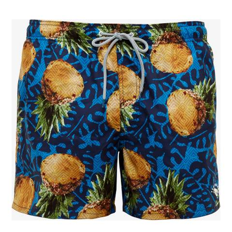 Ted Baker Blue Pineapple Printed Swim Short