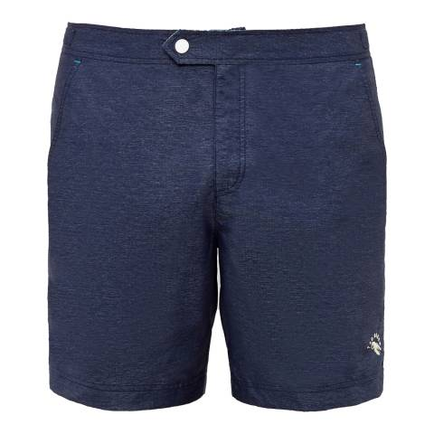 Ted Baker Navy Oxfprd Swim Short
