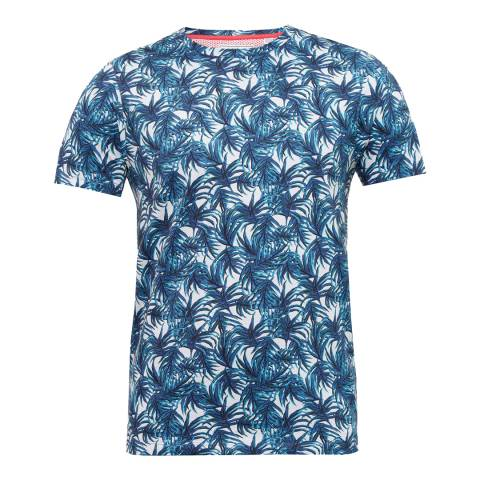 Ted Baker Blue Leaf Print T-Shirt