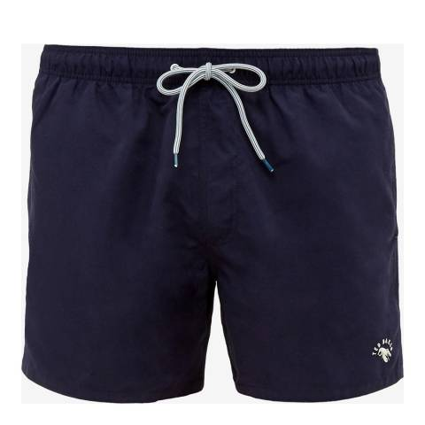 Ted Baker Navy Solid Drawtring Swim Short