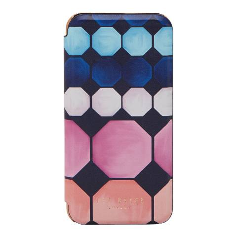 Ted Baker Womens Navy Ted Baker Gwyneth Mosaic Iphone Case