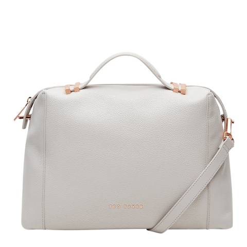 Ted Baker Womens Light Grey Albee Pop Handle Large Tote Bag