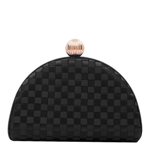 Ted Baker Black Kyla Woven Clutch Bag