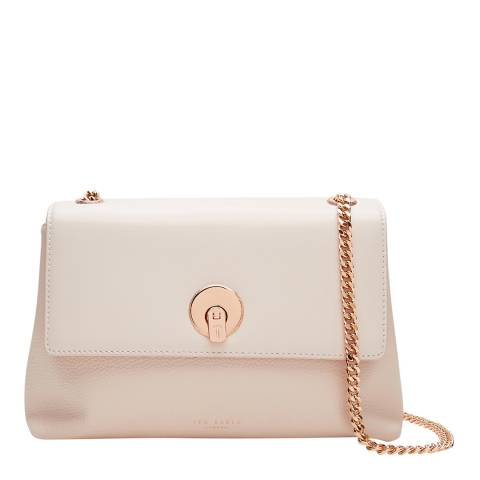 Ted Baker Baby Pink Mihai Circle Lock Leather Cross Body Bag