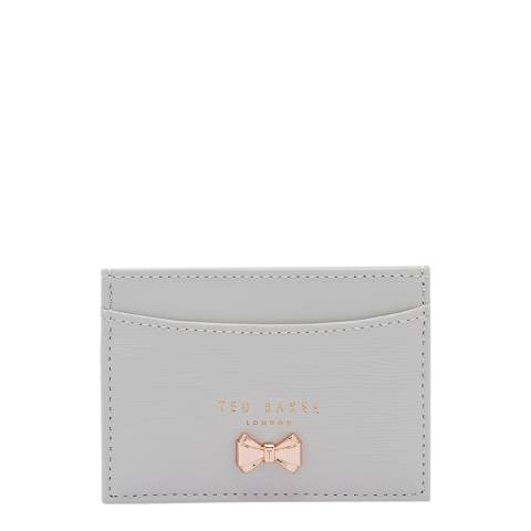 Ted Baker Womens Light Grey Cilinir Micro Bow Card Holder