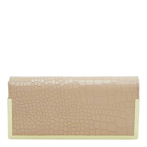Ted Baker Natural Collene Metallic Border Leather Matinee Purse