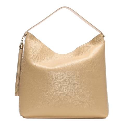 Cavalli Class Women's Beige Pantera Nude Leather Hobo Bag