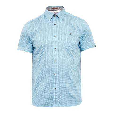 Ted Baker Green Lorenze Mini Printed Checked Shirt
