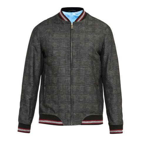 Ted Baker Charcoal Reactiv Checked Bomber Jacket