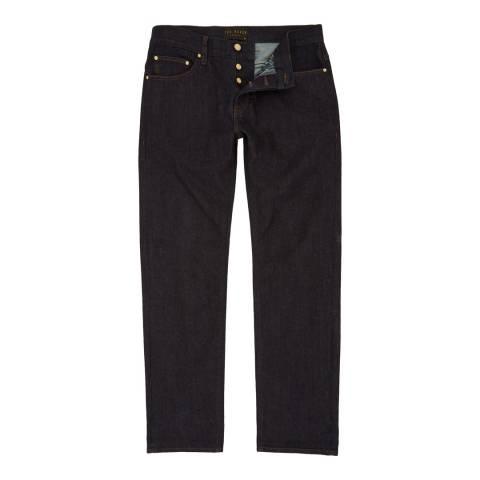 Ted Baker Deep Indigo Obtest Original Fit Cotton Stretch Jeans