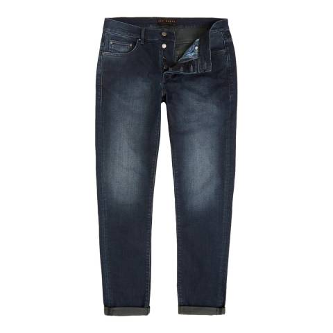 Ted Baker Dark Wash Shake Straight Dark Blue Jeans