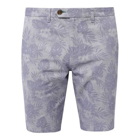 Ted Baker Navy Flowsho Printed Oxford Shorts