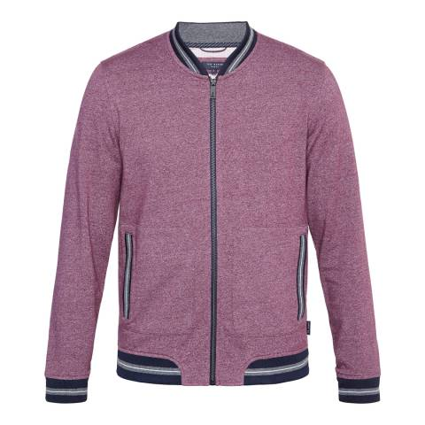 Ted Baker Purple Envisa Mouline Bomber Jacket