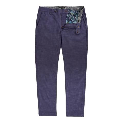 Ted Baker Dark Blue Shiresy Slim Fit Trousers