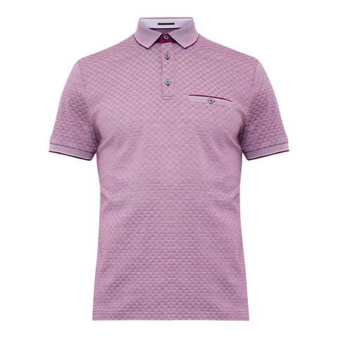 Ted Baker Purple Utah Oxford Jacquard Polo Shirt