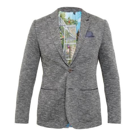 Ted Baker Charcoal Italy Textured Jersey Blazer