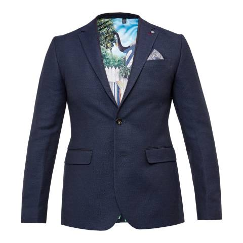 Ted Baker Navy Harvey Semi Plain Jacket
