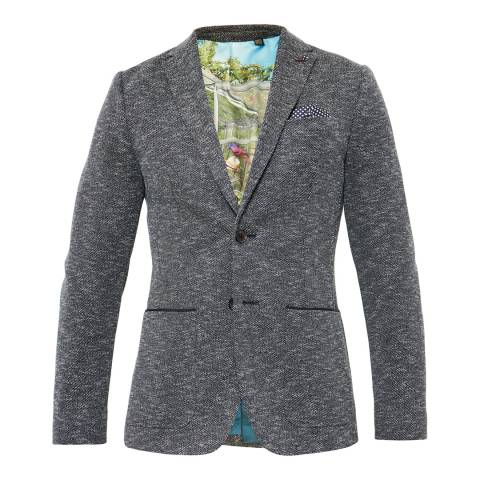 Ted Baker Navy Italy Textured Jersey Blazer