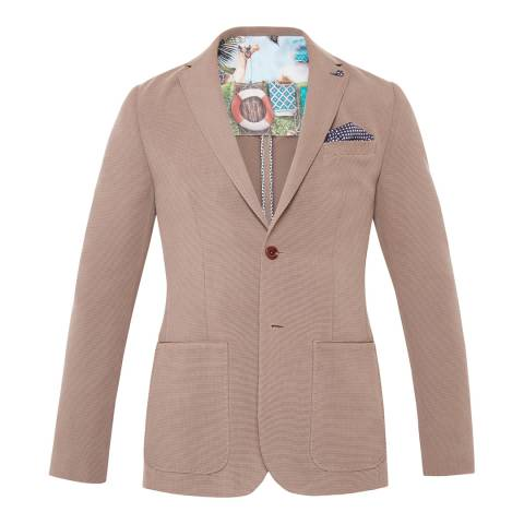 Ted Baker Taupe Melvis Textured Tencel Jacket
