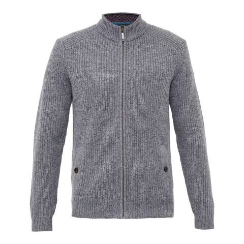 Ted Baker Grey Akela Funnel Neck Cardigan