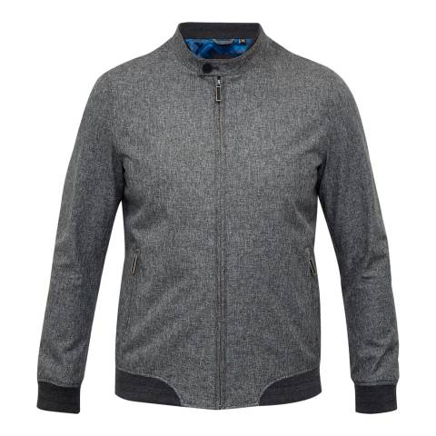 Ted Baker Grey Apollo Mouline Bomber Jacket