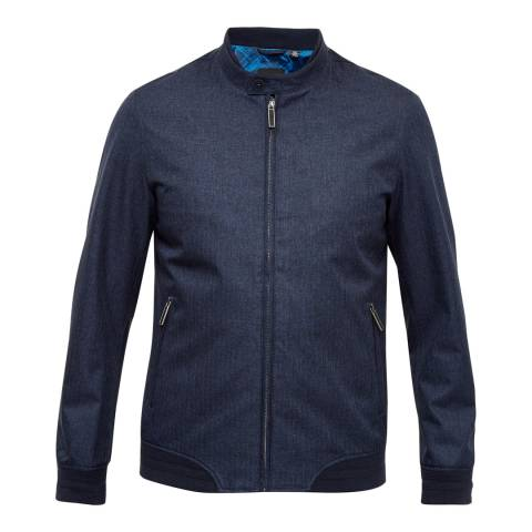 Ted Baker Navy Apollo Mouline Bomber Jacket