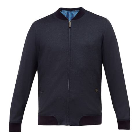 Ted Baker Navy Cabbo Semi Plain Bomber Jacket