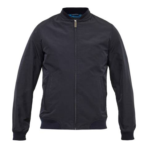 Ted Baker Navy Nufibre Microfibre Bomber Jacket