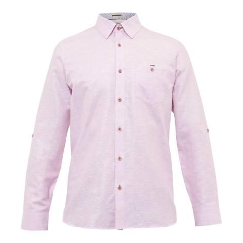 Ted Baker Pink Laavato Linen Shirt
