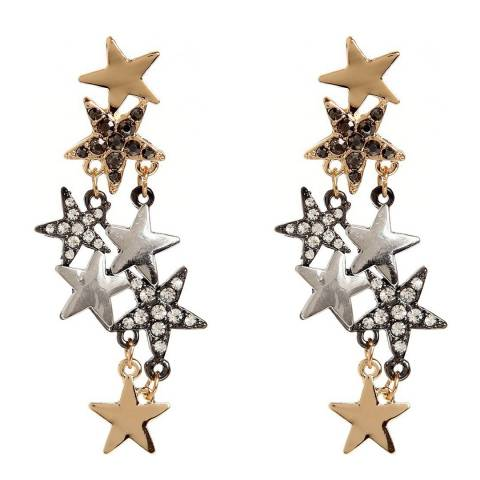 Amrita Singh Gold/Silver Celestial Starburst Crystal Earrings