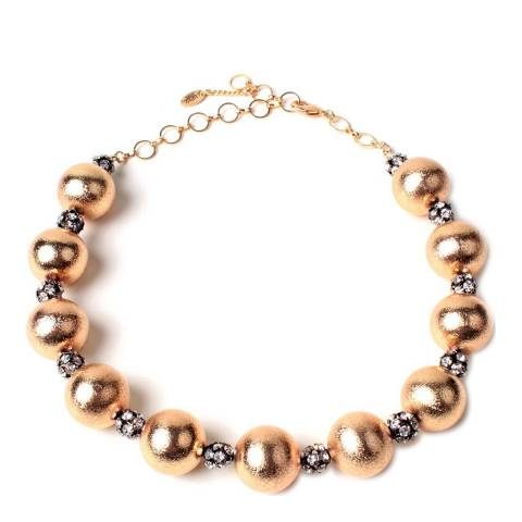 Amrita Singh Gold Vitto Crystal Brass Necklace