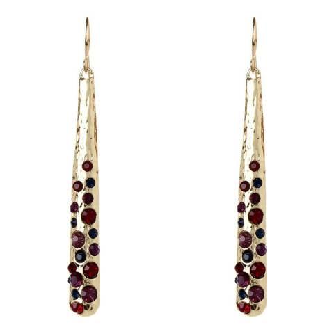 Amrita Singh Ocean Blue/Red Cleo Brass Earrings