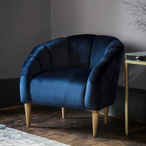 Gallery Tulip Chair, Atlantic Velvet