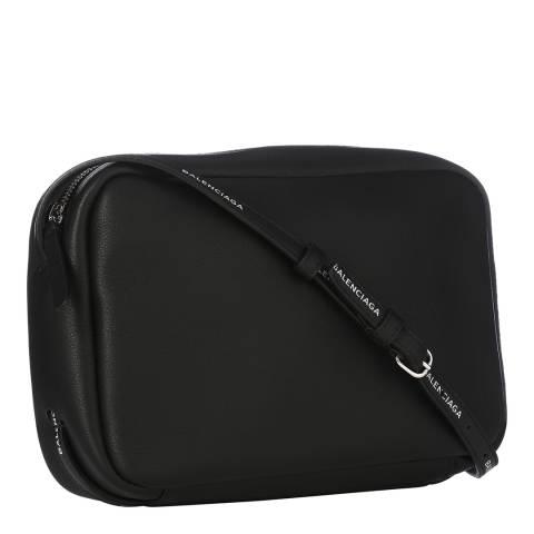 Balenciaga Black Camera Crossbody Leather Bag