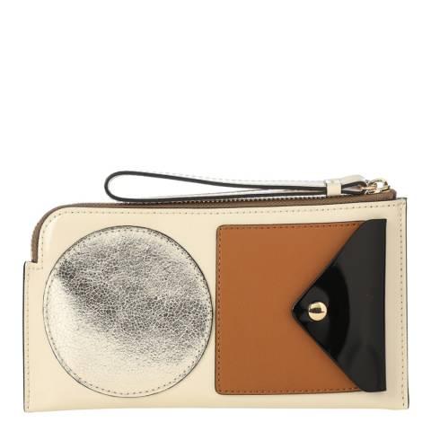 Orla Kiely Pink Flat Zipper Wallet